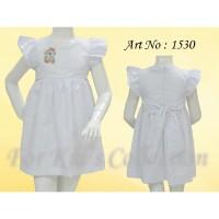 Dress anak putih katun bordir