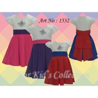 Dress anak polos 3 warna pita belakang
