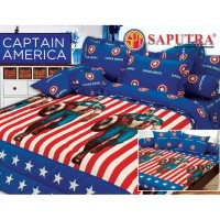 TERLENGKAP Saputra Bed Cover Set King Captain America / Bedcover