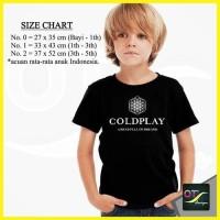 T Shirt Kaos Anak Baju Distro Band Coldplay 2016 hitam ot design
