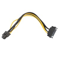 Video Card 15pin SATA Power to 6pin PCI-e PCI Express Adapter Cable