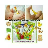 Termometer digital Elastis karakter hewan lucu-lucunya