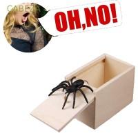 CABEZA Spider Hidden in Case Joke Toy Play Trick Wooden Funny Gift