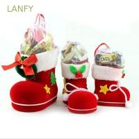 Natal Lancome Kaos Kaki Ankle Warna Merah untuk Hadiah