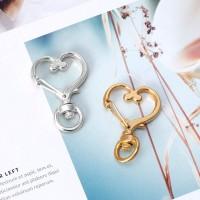 ❀AUTU Metal Swivel Lobster Clasp Snap Hook Heart Shape Keychain