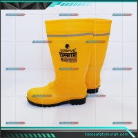 Sepatu Boot Safety PVC Sparta Gosave Steel Toe Ujung Besi Baja