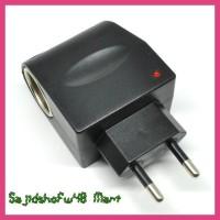 Terlaris Adaptor Acdc Car Charger Switch 12V 500 Ma Eu Plug Black
