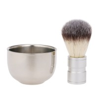 Snowpear ♥ Men's Shaving Brush with Soap Bowl Cream Mug Barber