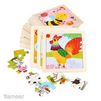 Wooden Animal Peg Puzzle Baby Toldder Preschool Kids Education Toys