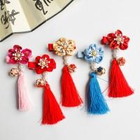 Retro Girls Chinese Hair Clip Accessories Pendant Tassels Bells Baby