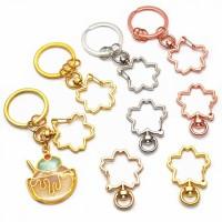 Keyrings ❀ 5Pcs DIY Keychain Cherry Flower Metal Snap Hook Lobster