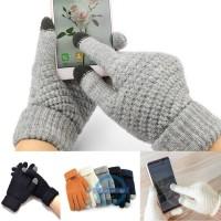 / Tablet Sarung Tangan Touch Screen Pria / Wanita untuk Musim Dingin