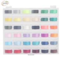 Transparent Bobbin Storage Box 36 Grid with Colorful Bobbin Thread