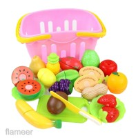 20pcs Cutting Vegetables Fruit Play Food Set Great Gift for Girls