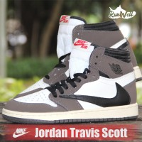 NIKE Travis Scott X Air Jordan 1 Backwards - Swoosh Mocha