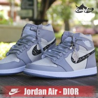 NIKE Air Jordan 1 Retro High Dior - WOLF GREY