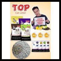 Promo Pasir Kucing Top Cat Litter Bentonite 25L / Gumpal Wangi 20Kg