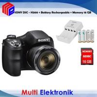 SONY DSC-H300 DIGITAL CAMERA FREE MEMORI 16 GB & BATTERY RECHARGEABLE