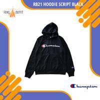 RB21 Champion Hoodie Script Black