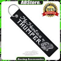 Gantungan Kunci Keychain MY HEART IS A THUMPER Premium