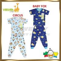 Velvet Junior Setelan Baju Pendek + Celana Panjang Bayi / Anak Motif