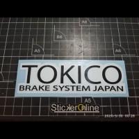 cutting sticker motor logo tokico brake japan uk 13x4cm
