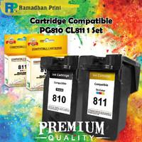 Cartridge Bekas Canon PG810 + CL811 1 set, Printer iP2770 MP237 MP258 - RECYCLE GARANSI