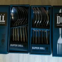 Sendok garpu makan merk super doll stainless steel spoon anti karat