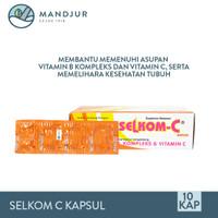 Selkom C Strip 10 Kapsul Suplemen Vitamin C dan B kompleks