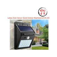 Lampu Sensor Gerak Outdoor Weatherproof 20 LED Praktis