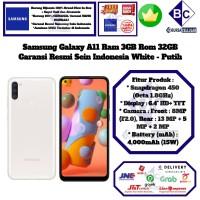 Samsung Galaxy A11 3GB/32GB A 11 3/32 GB 3/32GB Garansi Resmi-White