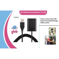 NP-FW50 Battery Dummy DC Adapter To USB 5V 2A (Power bank) Sony Camera