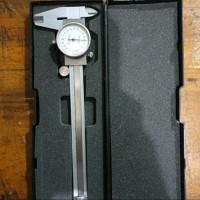 Dial Caliper manual dial indicator Akurasi 0.02mm Sikmat Jarum Sigmat