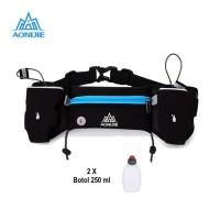 Aonijie Waist Bag E834S Tas Pinggang + tali BIB, 2 Botol - BLUE