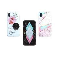 HEXAGON MARBLE CASE IPHONE OPPO A3S F9 F7 A71 A83 F5 F3 F1s A37