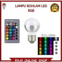 TAFFLED LAMPU BOHLAM LED RGB 3W 16 COLORS E27 REMOTE CONTROL MURAH