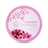 Wardah Creamy Body Butter With Rose, 150 ml