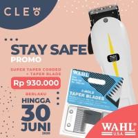 WAHL Super Taper Clipper + Taper Blade Set / Pisau WAHL - 100% Ori