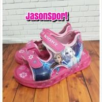 sandal lampu anak frozen elsa cewe led shoes murah sneakers original