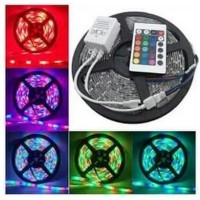 Lampu LED Strip RGB Warna Warni Waterproof Remote Adaptor Modul 5 Mtr