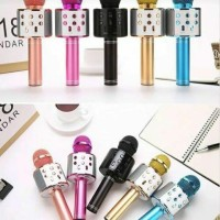 mic karaoke wireless microphone bluetooth ws 858