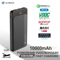Ultimate Powerbank VOOC SCP Dash 10000mAh Fast Charging PD QC3.0 X10