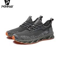 Pennay Predators Hombre Running Shoes - Men Sneakers HB1 Sepatu Pria - Abu-abu, 40