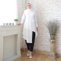 Atasan Tunik Muslim Wanita Polos / Blouse Wanita Muslim / Tunic Knot