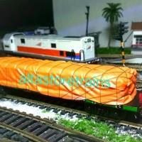miniatur Kereta api gerbong datar semen