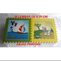 evamat ori asli abjad printing a-z 30x30cm 26 lembar