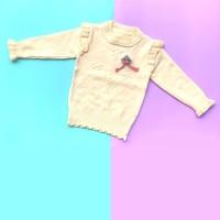 Baju Sweater Rajut Atasan Anak Perempuan Halus Import Real Picture No3