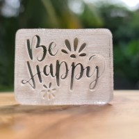 BE HAPPY #2 Acrylic stamp stempel sabun akrilik MAGA
