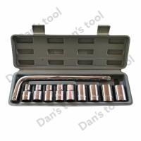 Kunci Sock 10 Pcs / Socket Wrench Set 1/2 inch 8-19 mm