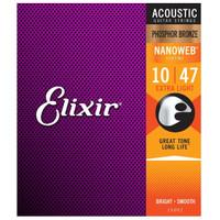 Elixir Nanoweb Phosphor Bronze Size 10 Acoustic Guitar String 16002